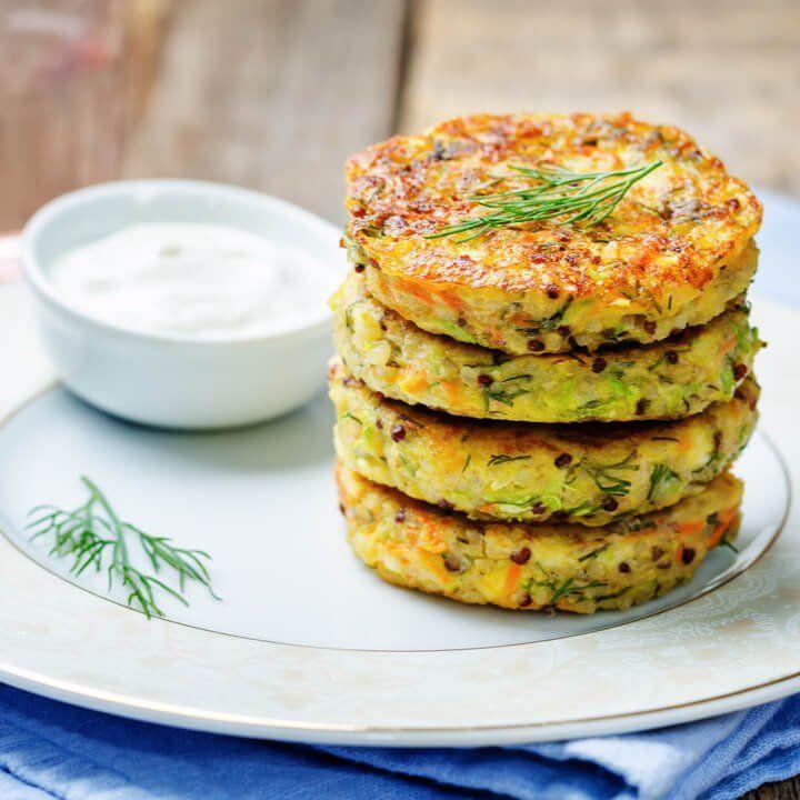 Quinoa Bratlinge Rezept – Vegetarisches Abendessen zum Abnehmen