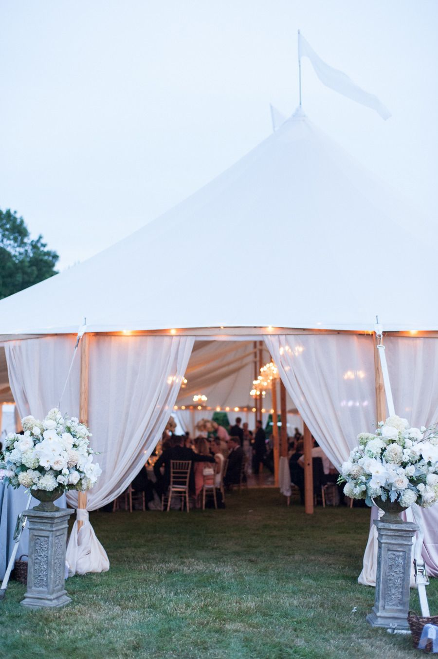 Wedding tent decoration images  Elegant Jamestown Summer Wedding  wedding ideas  Pinterest  Boda