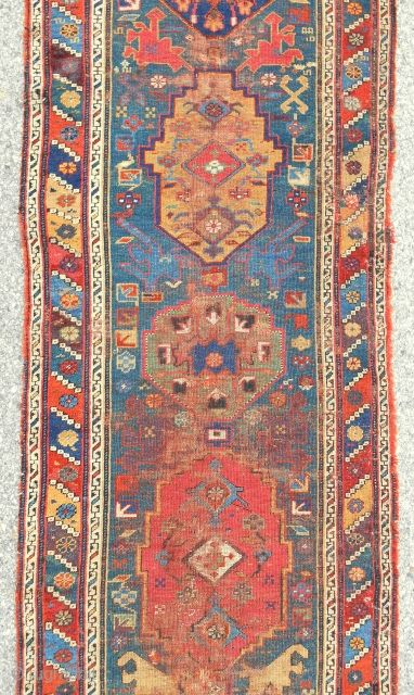 Very rare early Persian Kurdish long rug > c. 1800 or older