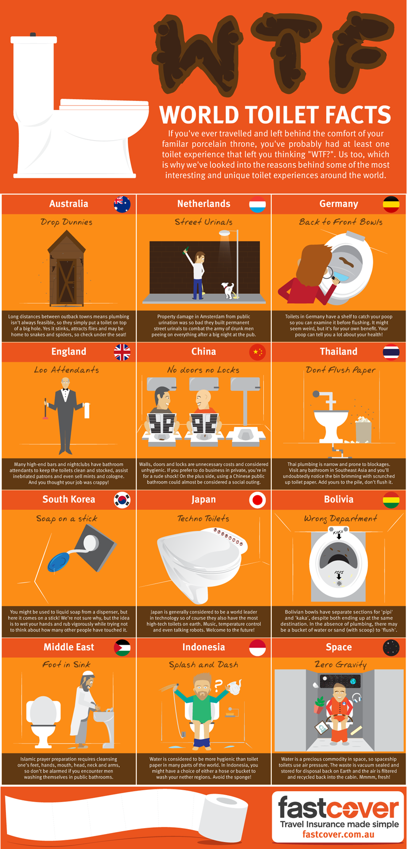 WTF!? World Toilet Facts #infographic | Useless Info | Pinterest ...