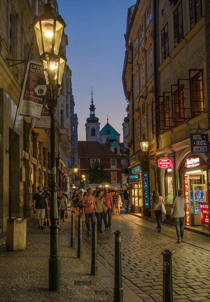 Karlova street in Prague at night | by Anguskirk