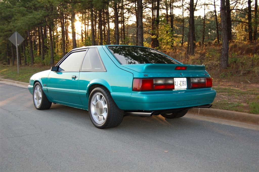1992 Ford Mustang Lx 5 0 Calypso Green Hatch With 1993 Cobra Wheels Very Well Could Be My Old Car If It Has A Mustang Lx Fox Body Mustang Ford Mustang Forum