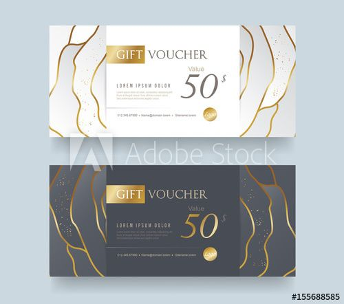 Gift voucher template with premium pattern,Vector illustration - gift voucher template