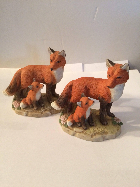 Home interior jesus figurines homco   red fox family figurine by beckybtreasuresshop on etsy