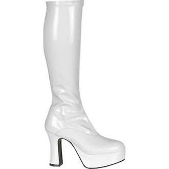 658818394d8f 60 s 70 s Abba White Platform Knee High Gogo Boots 5-11