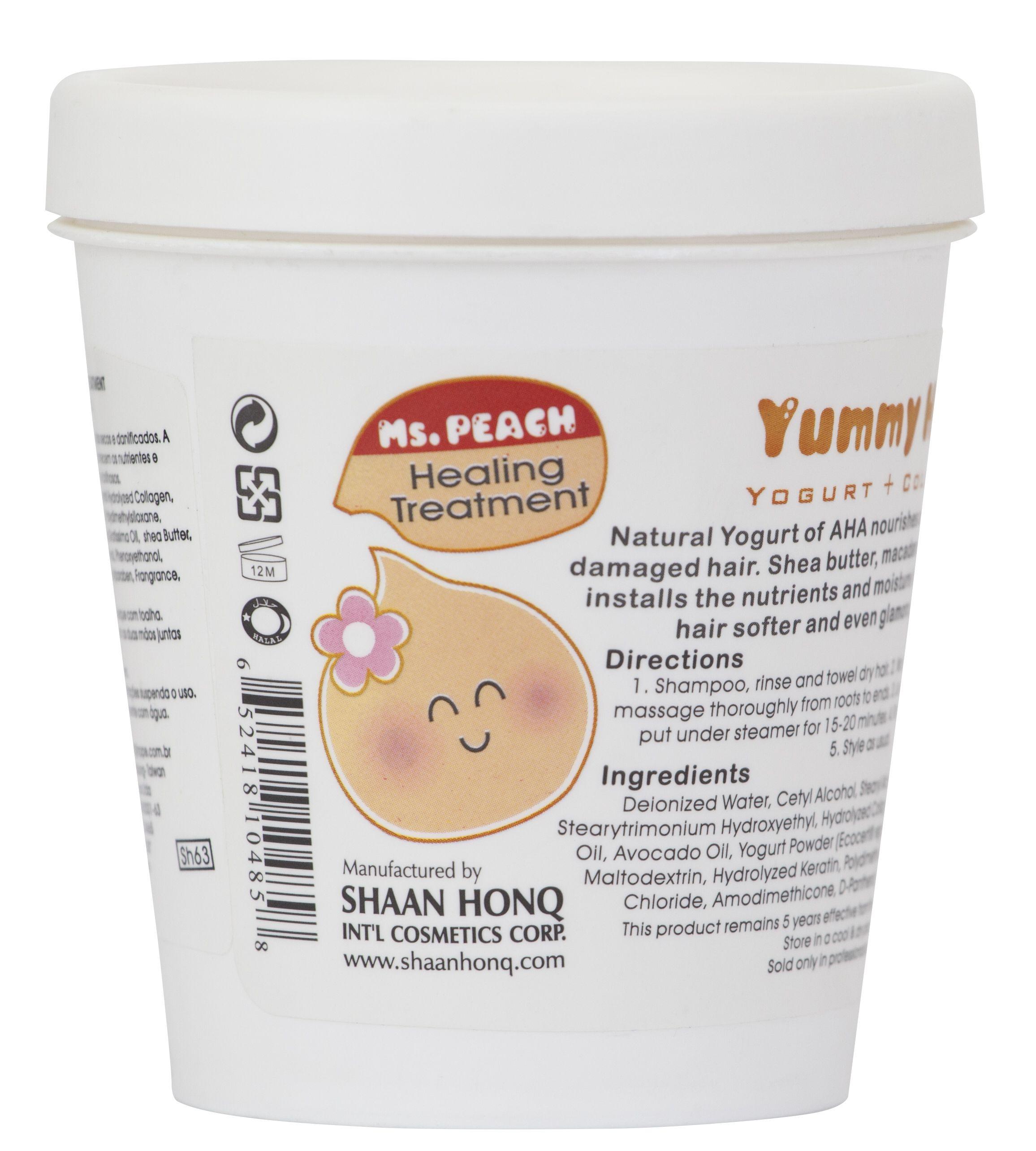 Yummi Hair Ms Peach Iogurte Natural Organico Com Blend De Oleos