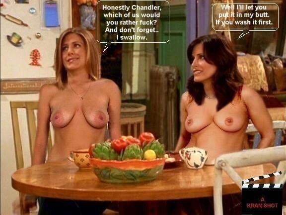 Jennifer aniston courtney cox nude