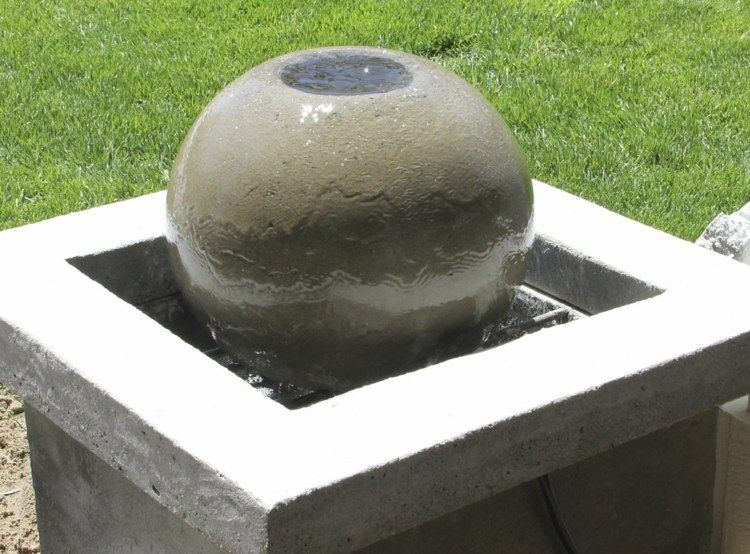 Parfait Décoration Jardin Pas Cher   Fontaine Boule à Fabriquer En Béton