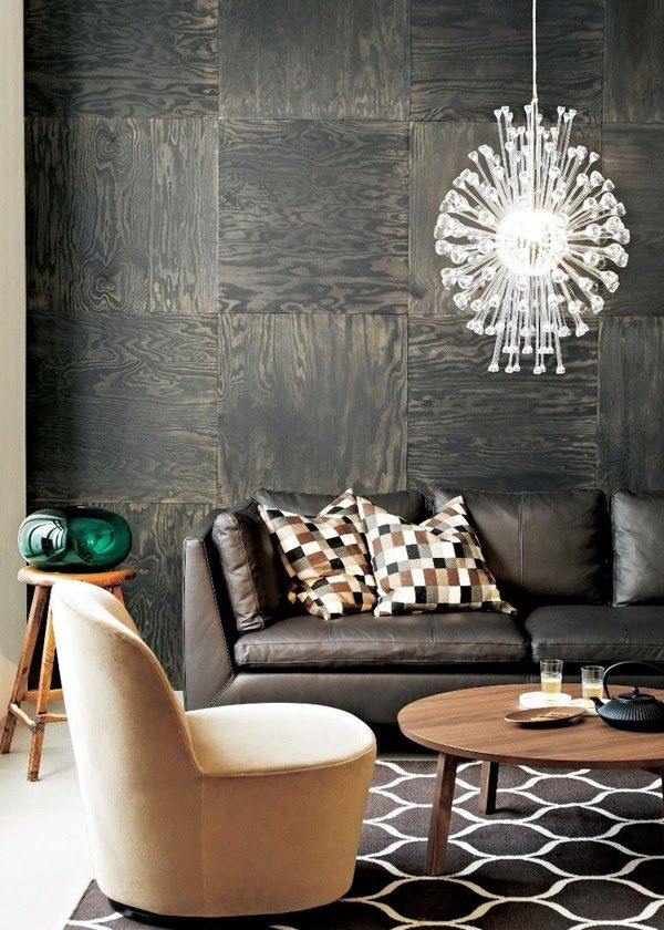 Love the idea of turned plywood for the walls.