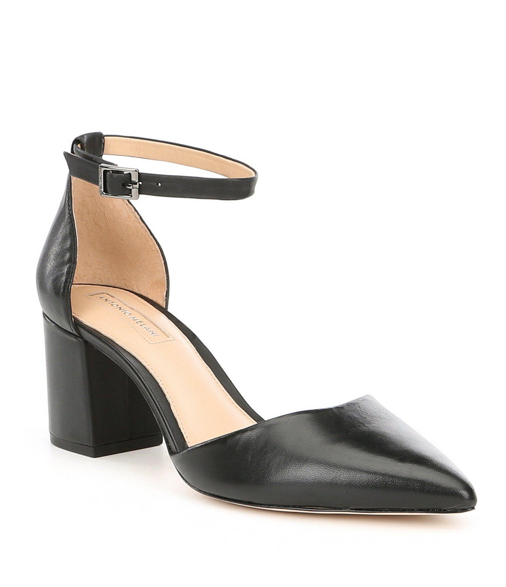 Antonio Melani Lynlee Mary Jane Ankle Strap Buckle Block Heel Dress Pumps dWCDAw