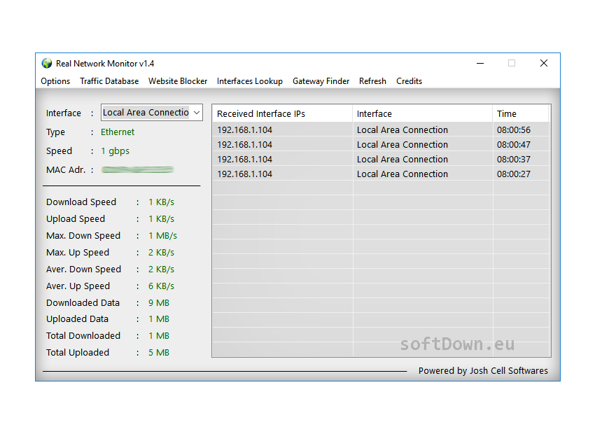 Real Network Monitor, Free Download - softDown eu | WINDOWS