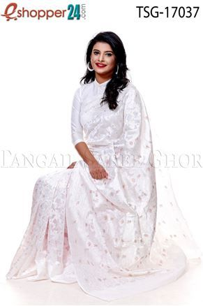 a66bef03c38 Jamdani Silk Katan Saree - TSG - 17037 - Buy tangail saree from online with  best price and best quality and get delivery Bangladesh and worldwide.