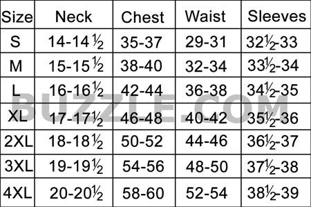 Complete Men S Shirt Size Chart And Sizing Guide All Guys Need