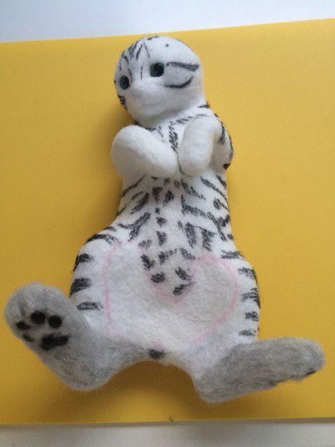 お人形ができるまで ⑥ #needlefeltedcat