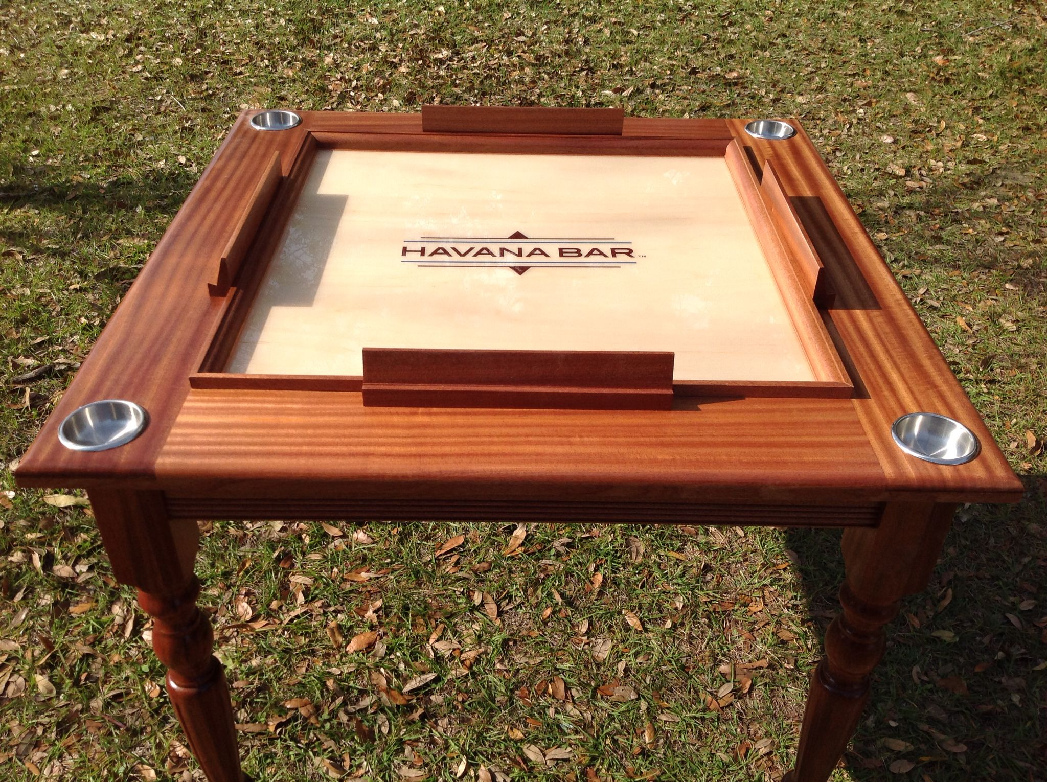 Solid Mahogany Domino Table With Turn Legs And Locked Drawers Domino Table Solid Mahogany Domino