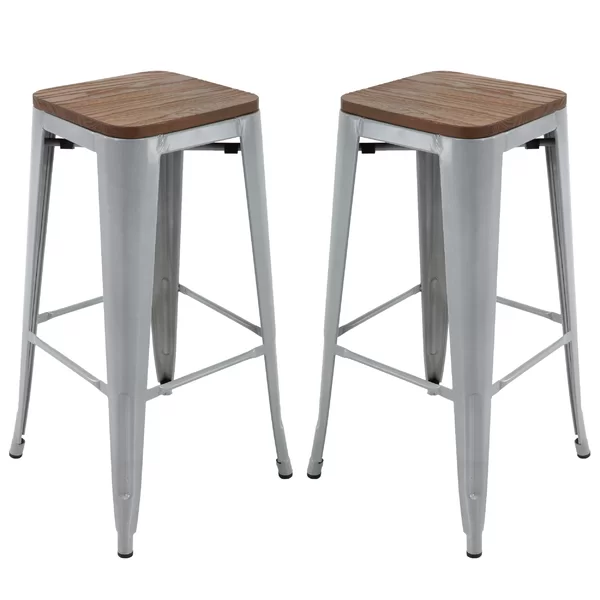 Saunders Brage Solid Wood 30 Bar Stool With Images Bar Stools