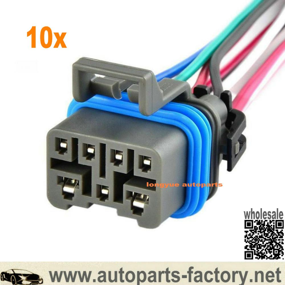 Longyue 10pcs 4l60e 4l80e Neutral Safety Switch Connector Pigtail Denso Lexus Toyota