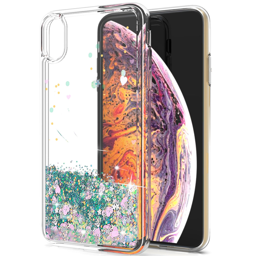 For Iphone Xs Max 6 5 Inches Dynamic Quicksand Liquid Case For Iphone Xs Max Bling Sequin Glitter Stars Hard Clear Back Cover In Fitted Cases From Cellphones Iphone Cases Case Glitter Stars