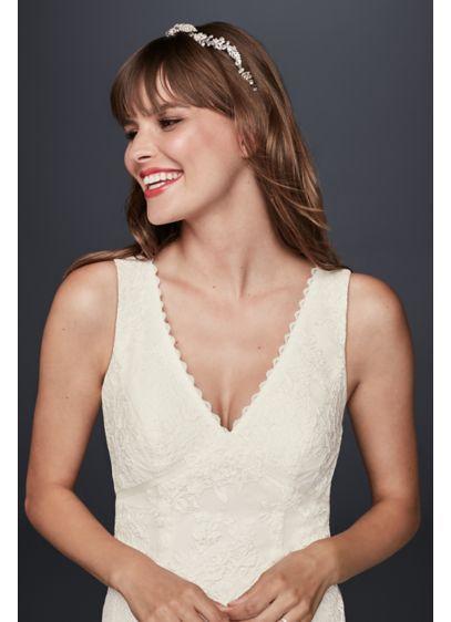 c9ccc31edb Flower Lace V-Neck Wedding Dress with Empire Waist KP3783   wedding ...