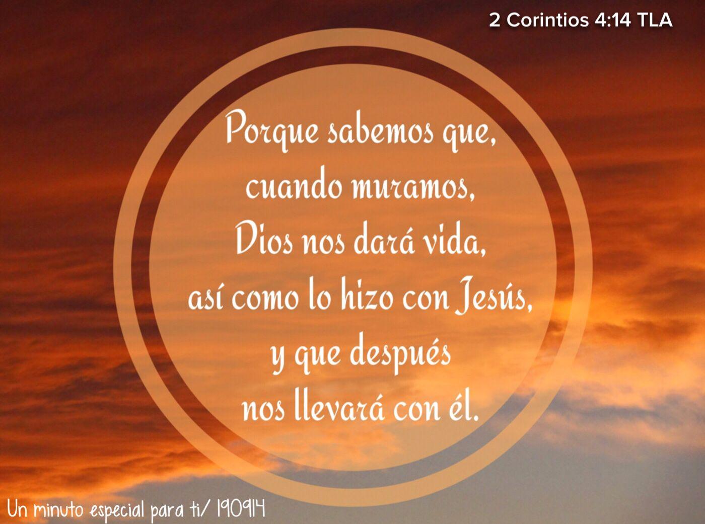 2 Corintios 4:14 TLA