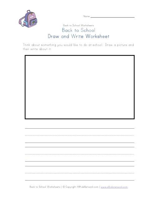 Back to school draw and write worksheet   Back To School Worksheets ...