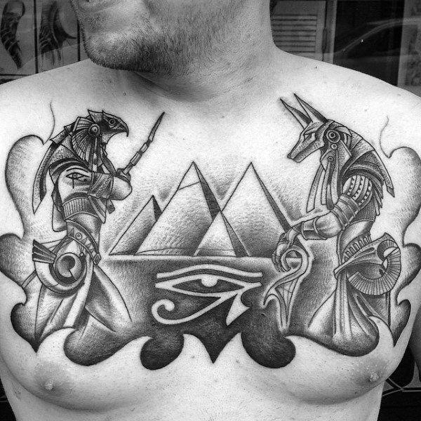088c51993 50 Eye Of Horus Tattoo Designs For Men - Egyptian Hieroglyph Ink ...
