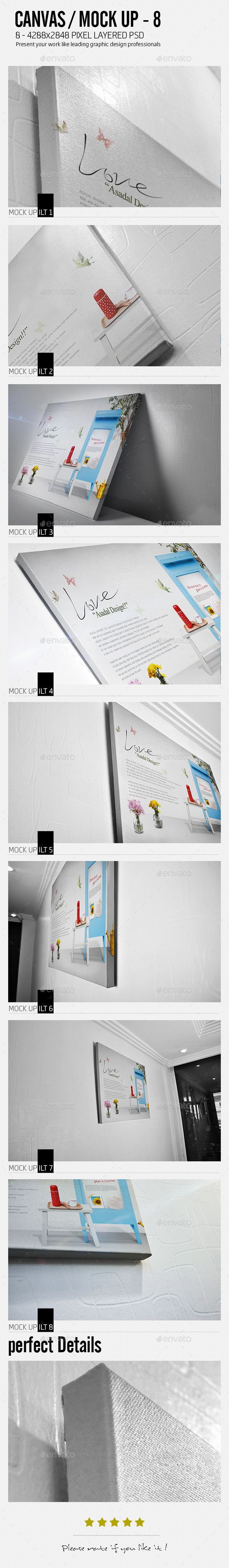 Ilt canvas mock up   Canvases, Business presentation and Psd templates