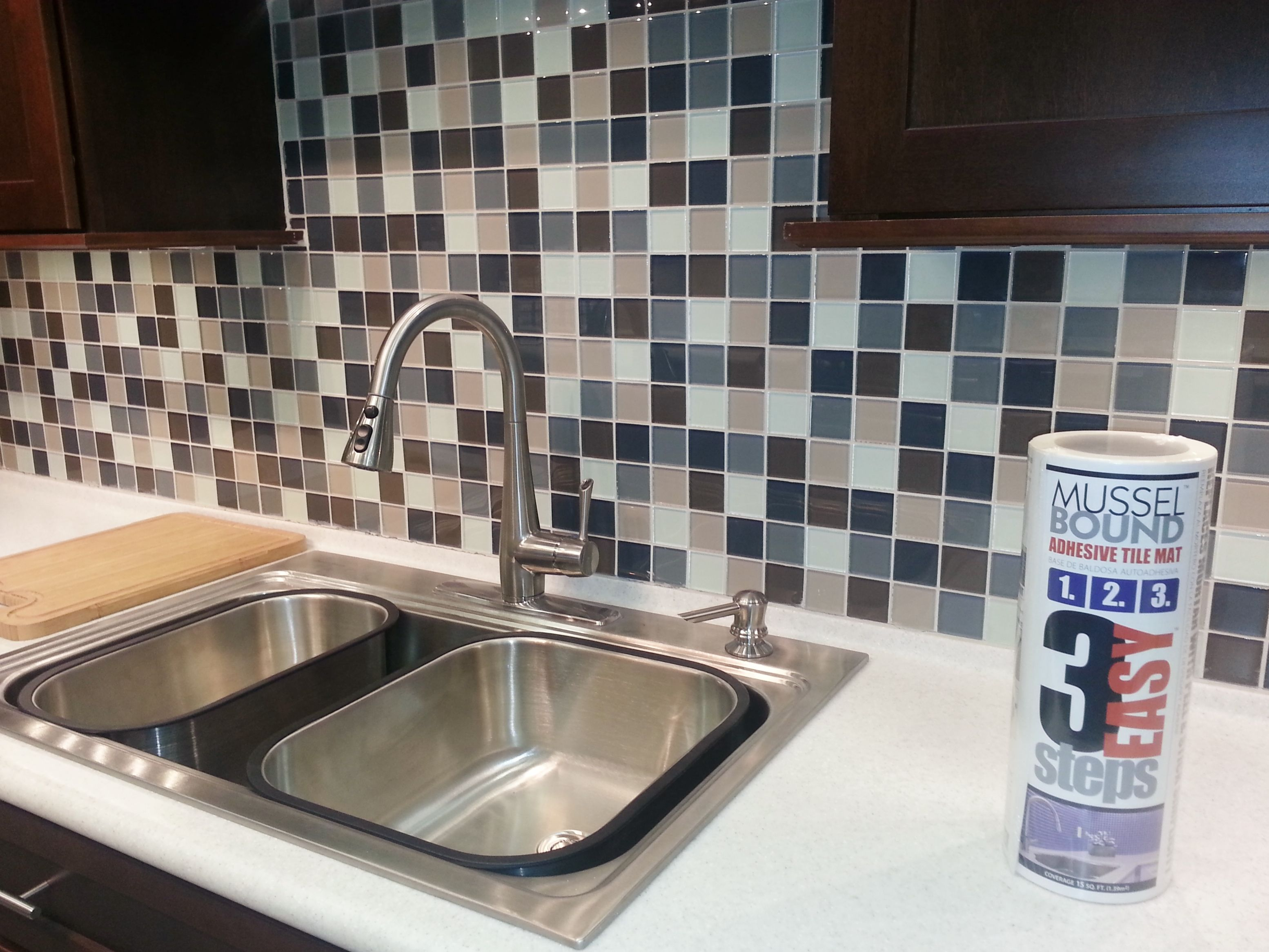 Glass Mosaic Sheets Install Very Quickly And Are Easy To Cut Around