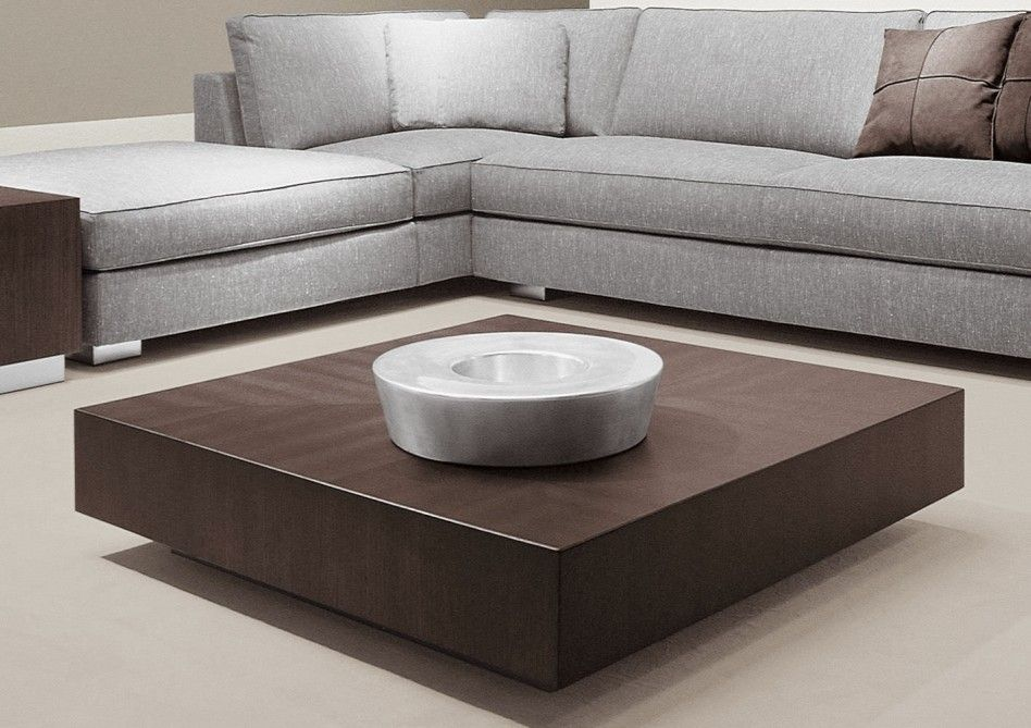 Square Coffee Tables Living Room Furniture Mahogany Wood Low Cube