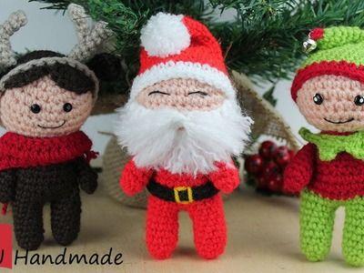 Tutorial Elfi Amigurumi : Amigurumi ghrilanda natalizia con elfi amigurumi crochet