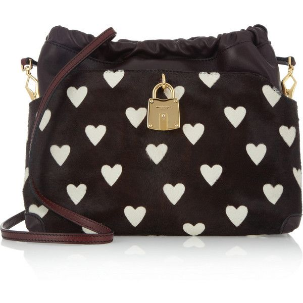 74c62e3f1abe Burberry Prorsum Little Crush leather and calf hair bag found on Polyvore
