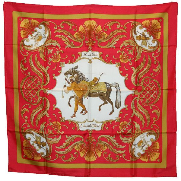 hermes scarf ❤ liked on Polyvore