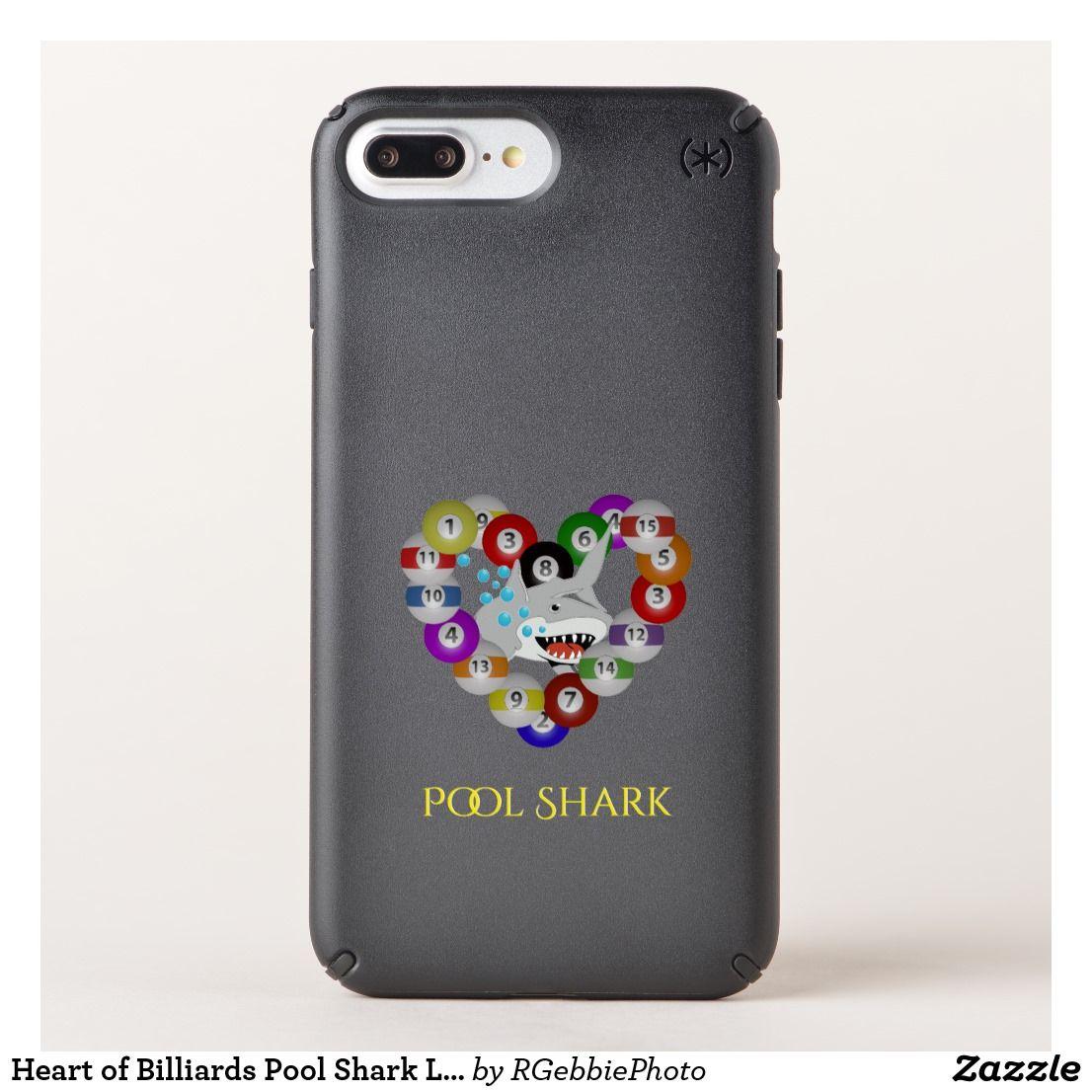 Heart of billiards pool shark love speck iphone case 59