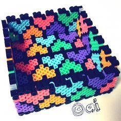 Hearts box perler beads - Pattern: https://de.pinterest.com/pin/374291419013635740/