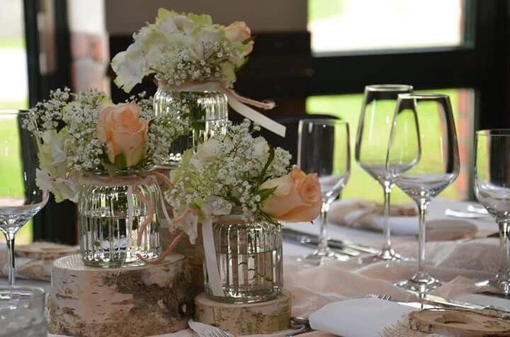 Hochzeitsdeko Birke Und Blumen Birke Hochzeit Tischdekoration Hochzeit Hochzeitsdeko