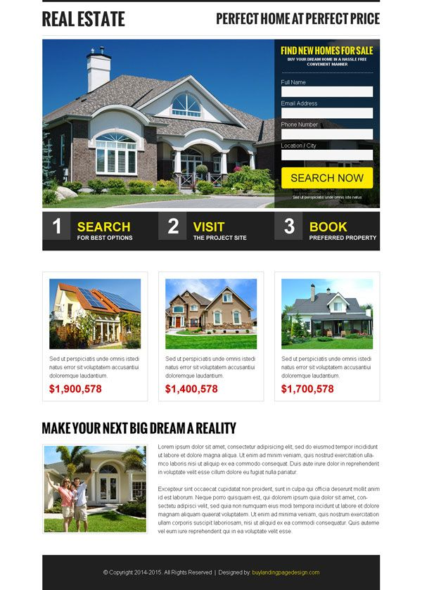 Best Real Estate Landing Page Design Templates For Real Estate