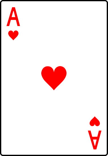 playing cards the ace of hearts ace of hearts playing deck of cards clipart black and white deck of cards clip art free
