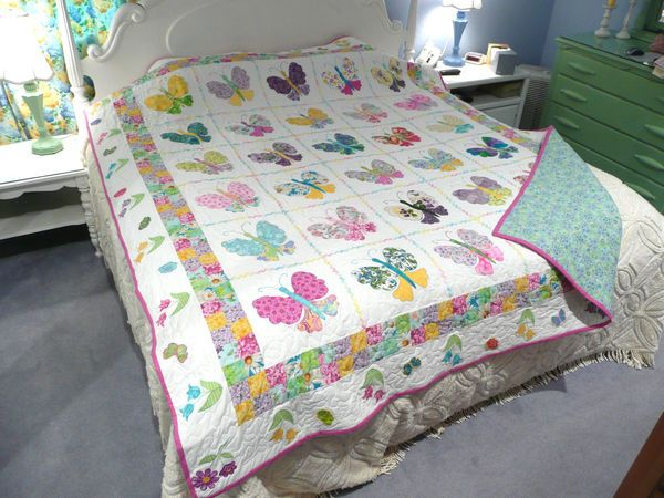 Butterfly Quilt I made one like this   quilts   Pinterest ... : butterfly quilt designs - Adamdwight.com