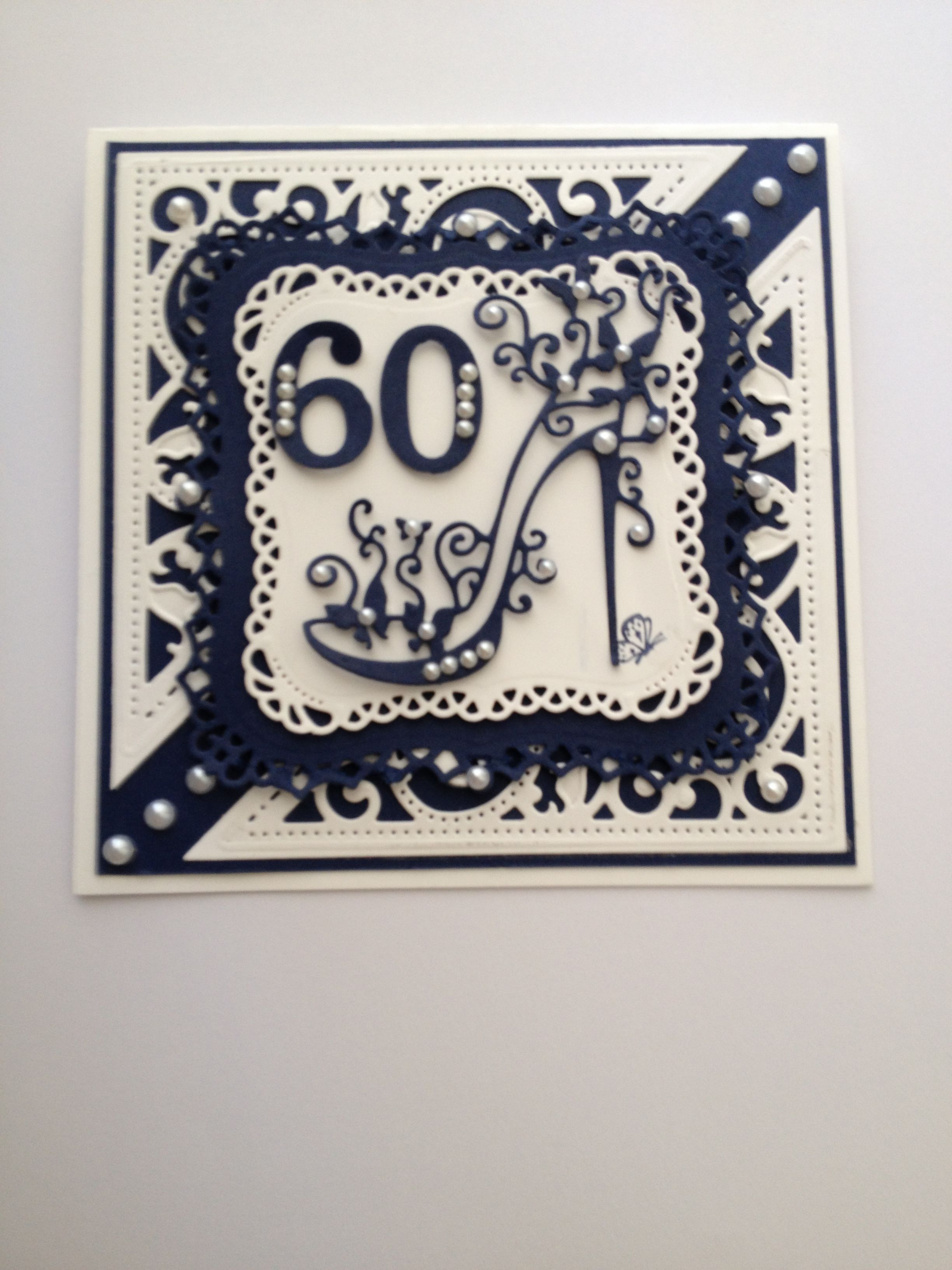 Birthday Card using Spellbinders and Tattered Lace dies