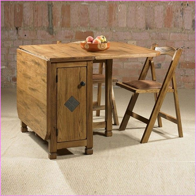 Drop Leaf Table With Folding Chairs Stored Inside Uses And Benefits In 2020