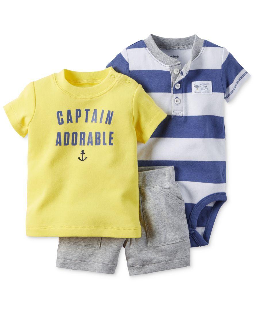 Carter's Baby Boys' 3Piece Captain Adorable TShirt