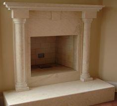 Round Column Mantel Google Search Marble Fireplace Mantel