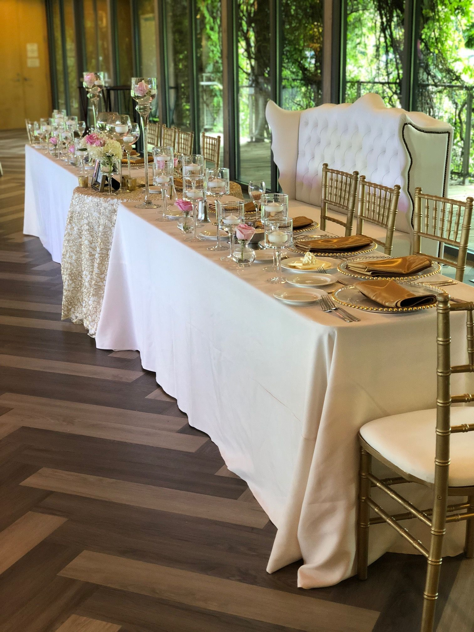 head table for wedding reception at forest park golf course rh pinterest com