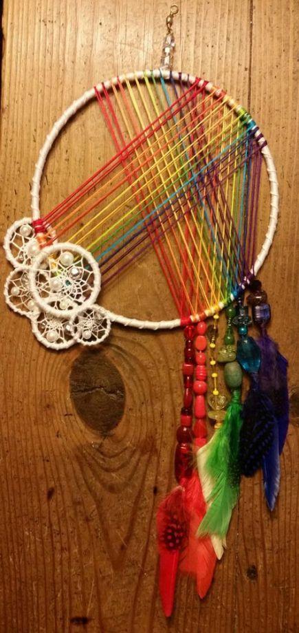 Best Diy Dream Catcher Rainbow 34 Ideas #dreamcatcher