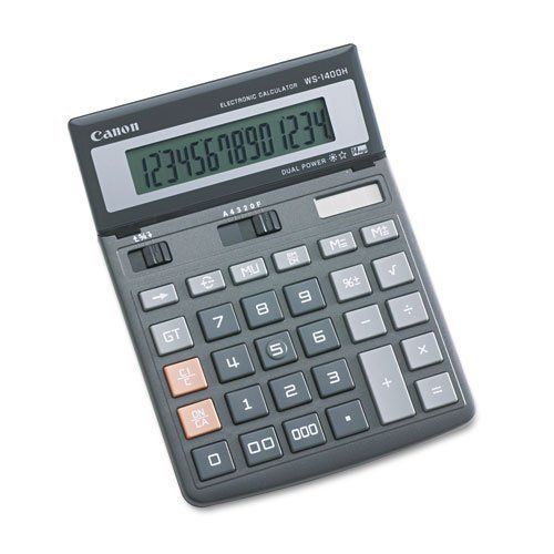WS1400H Minidesk Calculator, 14-Digit LCD By Canon. $23.82