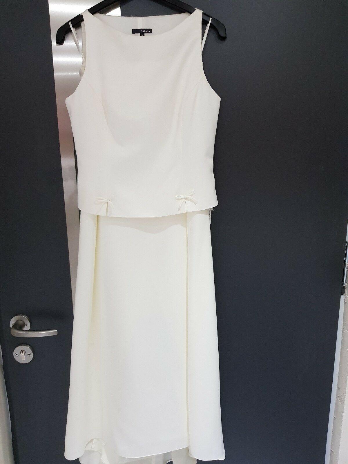 Hochzeitskleid Abendkleid festlich 12-teilig NEU Gr. 12/12 Creme