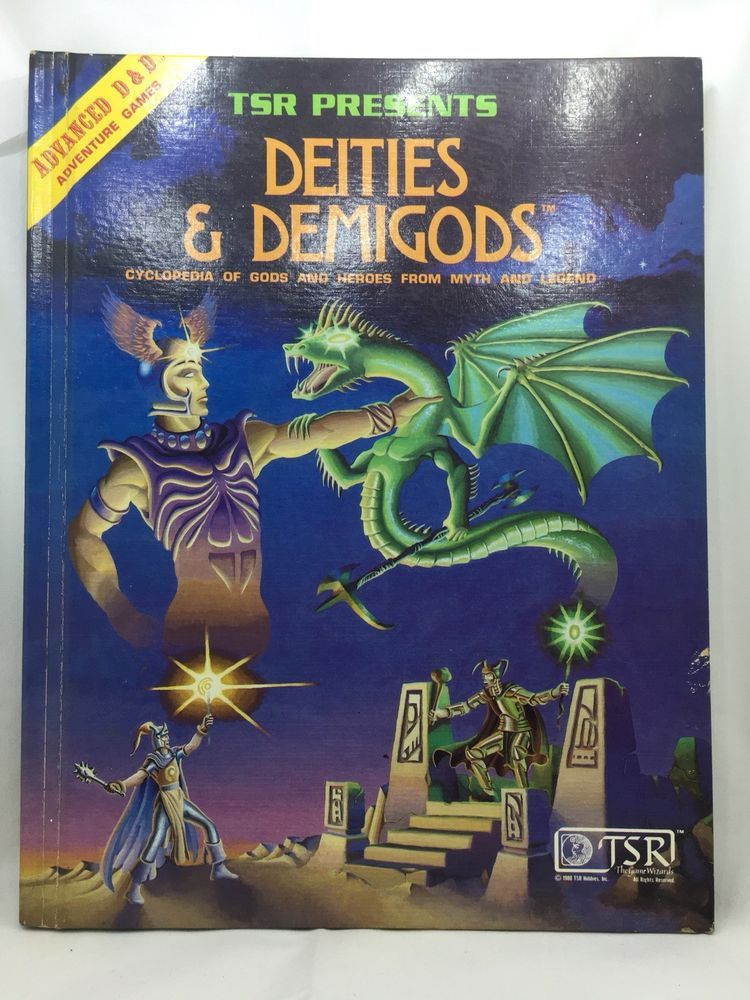D And D Gods : Advanced, Dungeons, Dragons, Deities, Demigods, First, Edition, Vintage, Dragons,