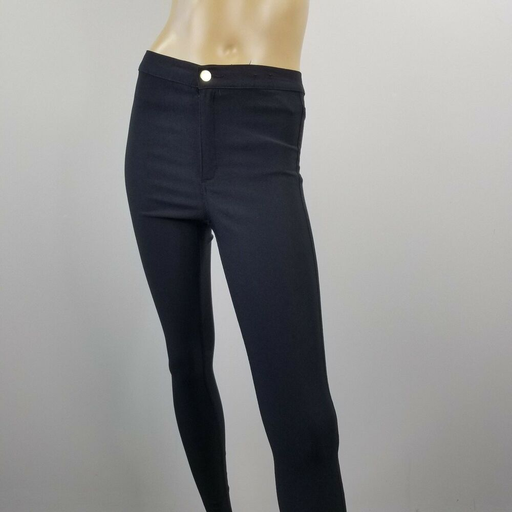 ba93a1eac1208 DIVIDED H&M Womens Size 8 Black Stretch Supper Skinny Leggings Pants #HM  #Footless #GoingOut