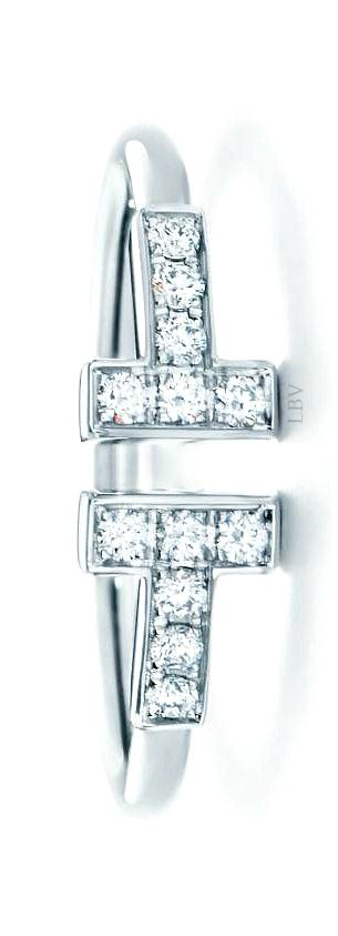 ac6b5cb2fc614 Tiffany T Wire Ring in 18k white gold with round brilliant diamonds ...