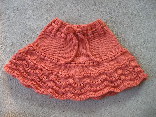 Ravelry: Project Gallery for Scallop Edge Short Skirt pattern by ...